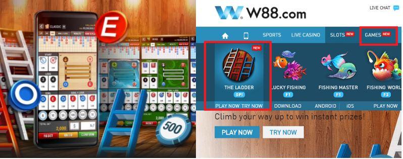 Permainan dengan Sistem Lotere, Cara Bermain The Ladder W88 2020