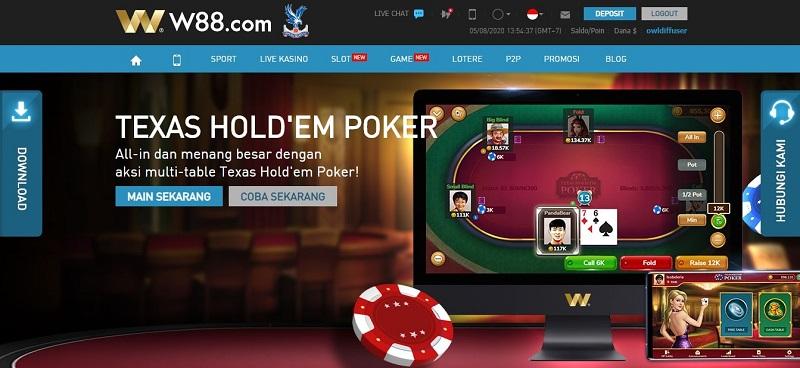 Menghasilkan Uang di W88: Game Poker yang Online