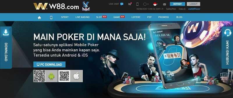 Langkah Cara Bermain Poker di W88