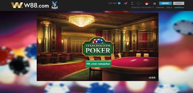 Taruhan dalam Online Asia Poker Tournament di W88.com