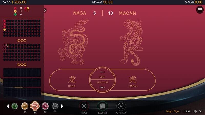 Aturan Game Dragon Tiger Serta Cara Main di Bandar W88