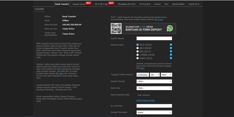 Menyetorkan Rupiah Asli untuk Bermain Judi Online
