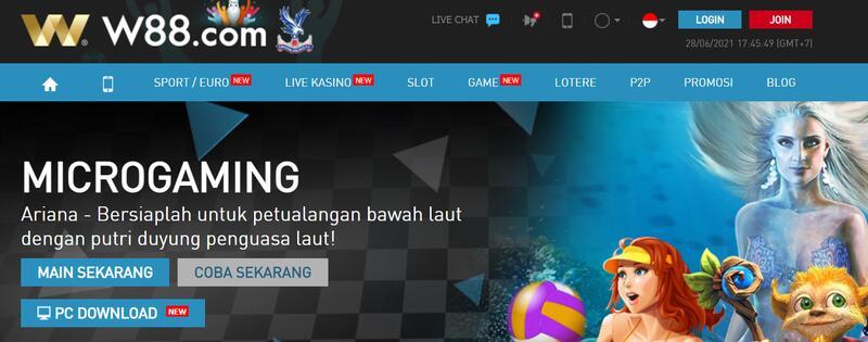 Buka Akun Baru W88 untuk Bermain Game Microgaming Online Casino
