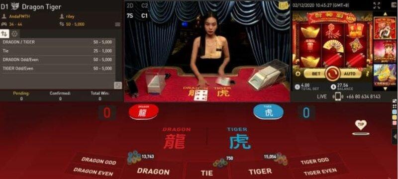 Dragon Tiger Apk dengan Permainan Versi Live dan Virtual