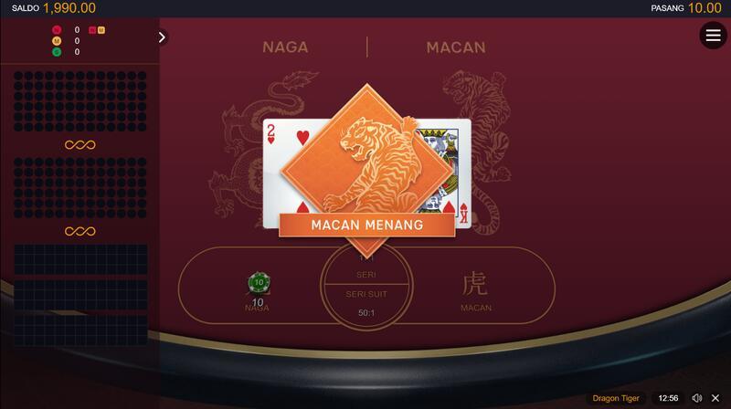 Dragon Tiger Slot Populer dari Situs W88
